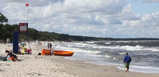 kołobrzeg, plaża, zachodnia